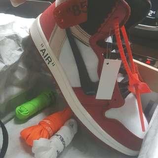 Off white × air Jordan 1 the 10(原廠正品)