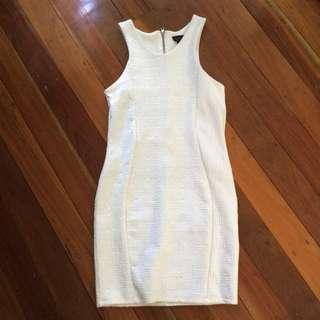 Top Shop White Bodycon Dress