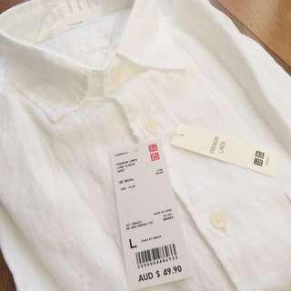 NEW Men's Linen Dress Shirt