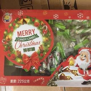 聖誕拐杖糖 聖誕糖 聖誕節 拐杖糖 約45支 225g 馬來西亞製