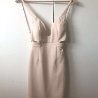 Nude cut out dress