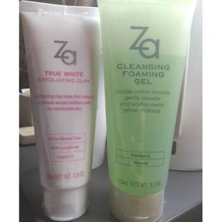 Shisedo ZA cleansing forming gel + True White Exfoliating Clay 100g #Shisedo #ZA   #mask  #face wash