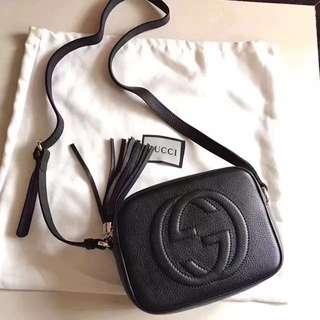 🚚 黑色荔枝紋雙G相機包