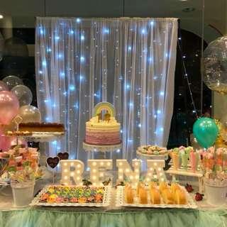 Rental -Whole set ) Dessert table decoratives