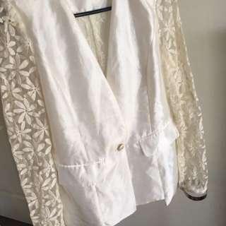 Mossman white blazer