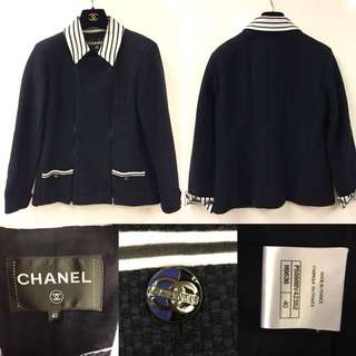 Chanel navy blue jacket size 40