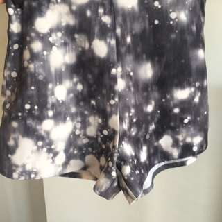 Mossman galaxy print shorts