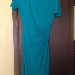 DKNY Teal Semi-formal Dress