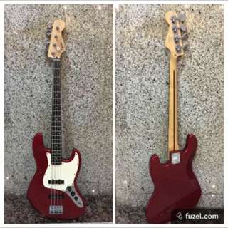 Fender Squire Jazz Bass Guitar 2007 Made In Indonesia