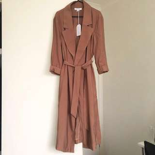 Lightweight Duster Coat Jacket Drape