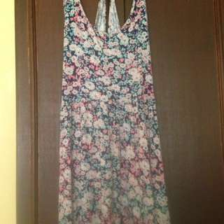 F21 Floral Sexy Back Dress