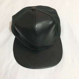 Half Leather Hat