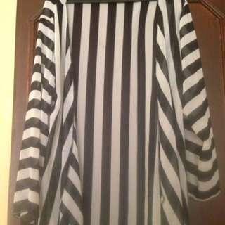 Long Stripes Kimono