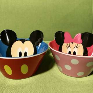 Authentic Mickey and Minnie bowls