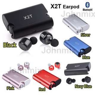 6 color X2T 藍芽雙耳機連充電盒套裝 Wireless Bluetooth Earbuds Mini Twins Truly Wireless Bluetooth Sports Headphone Noise Cancelling Stereo Bluetooth V4.2 Wireless Earbuds Stereo Surround Sound Headset Earphone