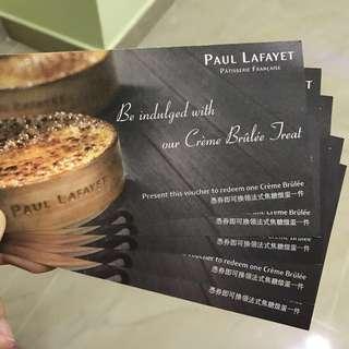 Paul Lafayette 法式焦糖燉蛋券