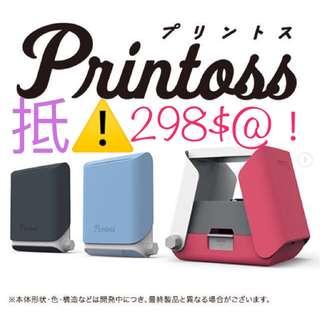 |$298 @!!!|PRINTOSS曬相機 - 黑,藍,粉三色|(編號159)