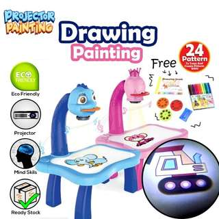 🔥#3 in 1 Projector Kids Painting Drawing Table🔥