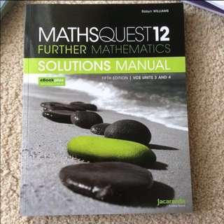 Further maths solutions manual
