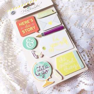 [Chipboard Stickers Embellishments] Hello Darling (#2) - Set of Charming Chipboard Stickers.