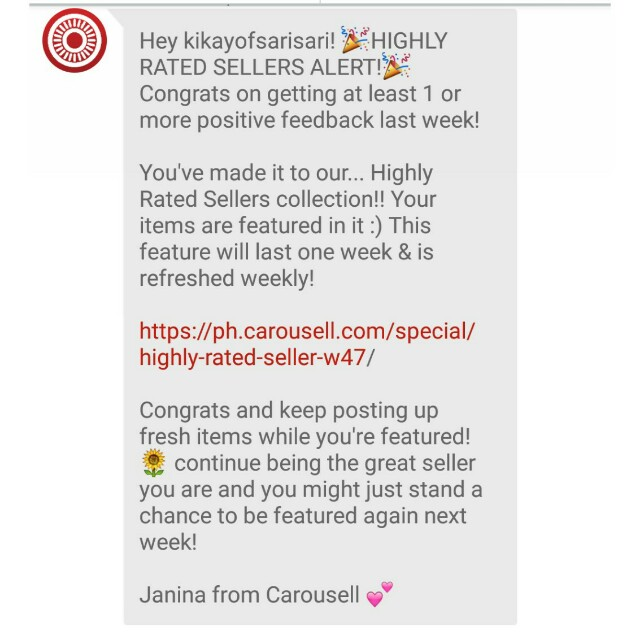 17TH! THANK YOU CAROUSELL!