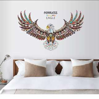 Personalized hand-painted animal wall sticker bedroom living room study office decoration stickers Eagle wall sticker can be removed/Home Decor 🔘Size W120*H74cm