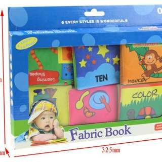 Set of 6-Soft Learning Fabric Book