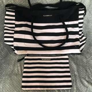 Victoria's Secret Sports Bag & Clutch