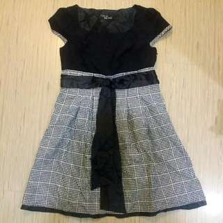 Cecil Mcbee Dress With Glitter Checks Satin Inner