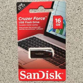 USB Flash Drive SANDISK CRUZER FORCE (16 GB)