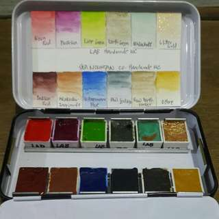 Handmade watercolor set from Life After Breakfast and Sea Mountain Co.