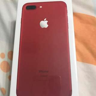 BNIB Red iPhone 7 Plus 256GB warranty ends Oct 18