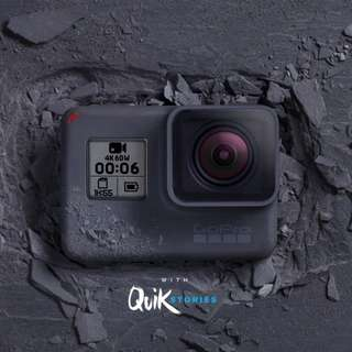 GoPro Hero 6 Black with 64GB Memory card