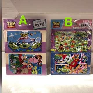 🚚 迪士尼 玩具總動員之三眼怪 造型 票卡貼紙