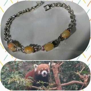 💗靚色火澳寶 閃山雲 蛋白石 紅寶 銀925手鍊子super beautiful lustrous fire opal ruby silver bracelet