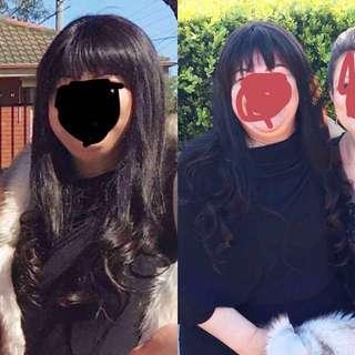 100% real Malaysian human hair lace front wig
