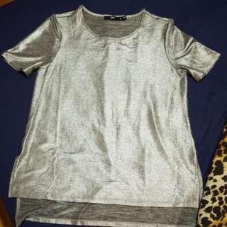 Sportsgirl metallic top XS
