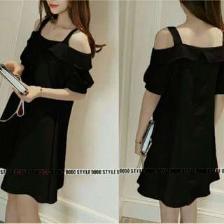 Dress Sabrina Wanita Black Ld100 Pj85 Fit To L