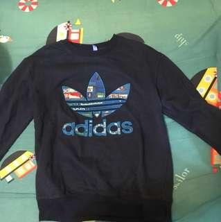 Adidas dark blue hoodie