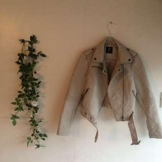 Atmosphere Beige leather jacket