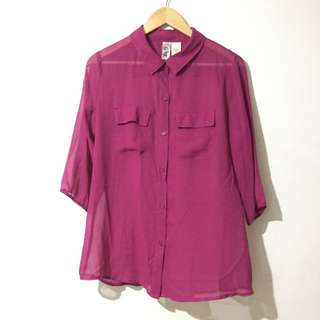 Lster Sheer Polo Blouse