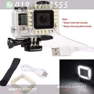 In-Stock✔USB LED Lens Ring Flash Fill Light Night Video Camera Lamp For GoPro Hero 3+ 4