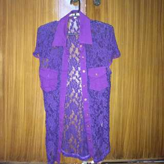 Purple Lace Top / Blazer (Forever 21, Zara, Topshop, H&M)