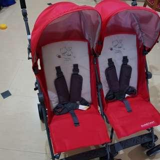 Sweet heart twin stroller