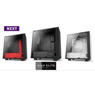 NZXT S340 ELITE Tempered Glass Mid Tower Case Chassis