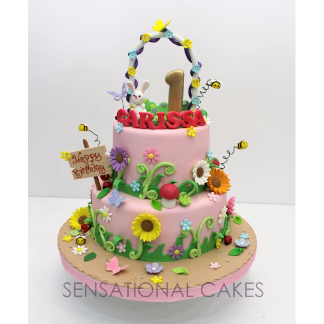 1st Birthday Cake For Little Princess 3d Garden Singapore