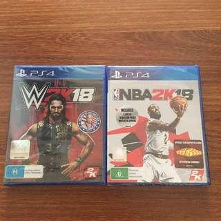 WWE & NBA 2k18 brand new