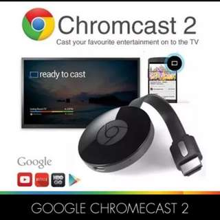 Google Chromecast 2 nd gen. - for Android 4.4.2 and above user.  Limited usage for ios.  - BNIB  🌷  STRICTLY NON NEGO @ CHINATOWN MRT 🌷  ** will not reply negotiation.  thanks