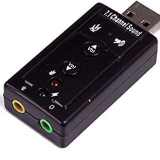 V1.0: USB Sound Card Audio Adapter PnP for Windows / PS3 / PS4 / Mac <new edition>