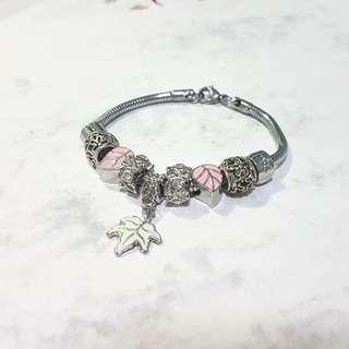 Pandora Inspired Charm Bracelet (Leaf)